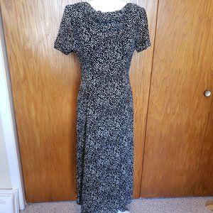 Talbots Long Polka Dot Dress Size 4